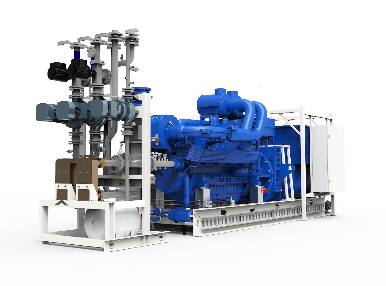 Газопоршневая электростанция (ГПУ) PowerLink GE875NG