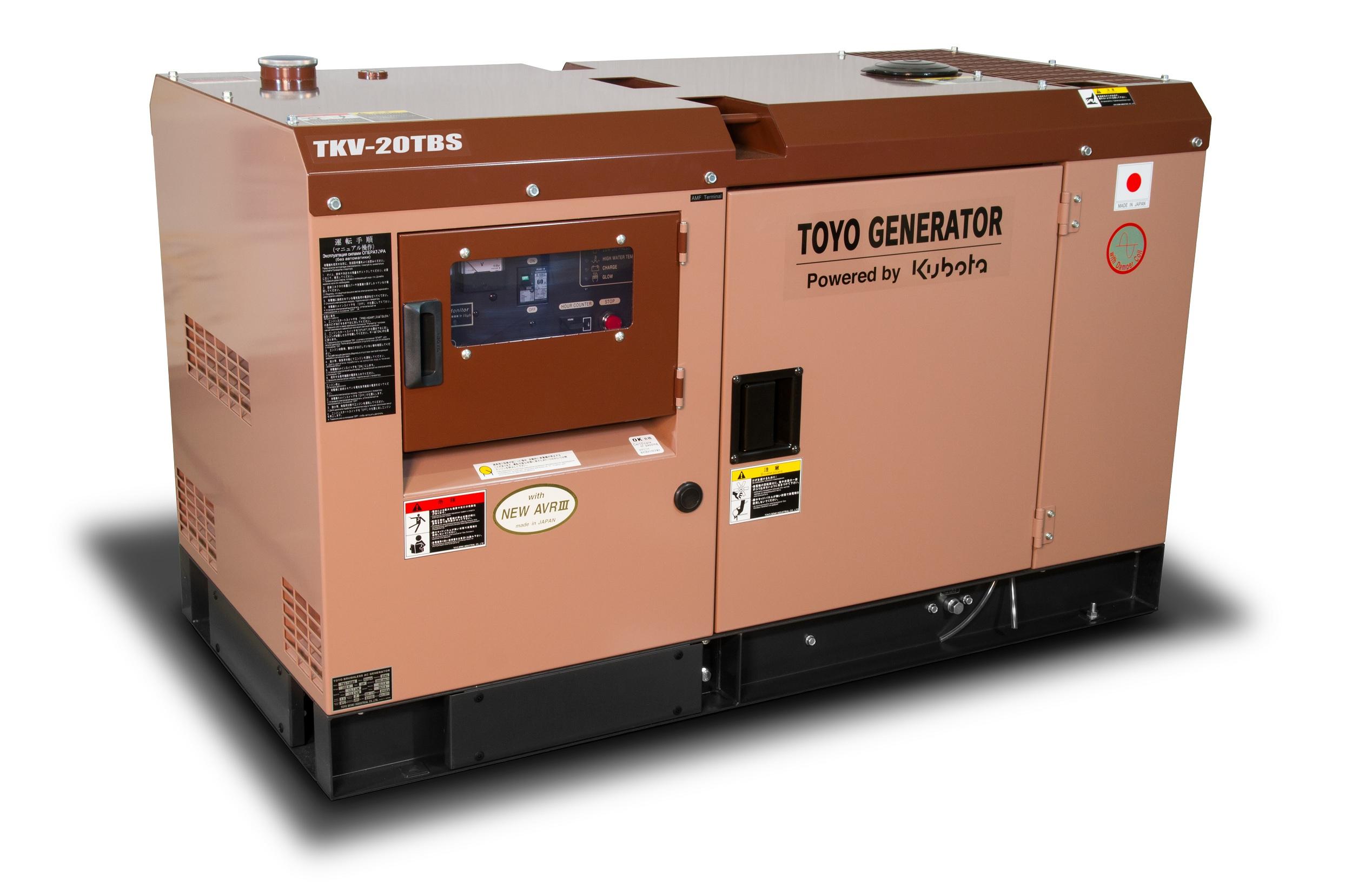 Дизельный генератор (электростанция) TOYO TKV-20TBS